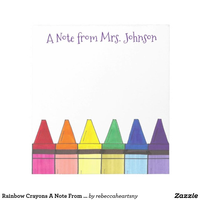 Crayons Teacher Notepad