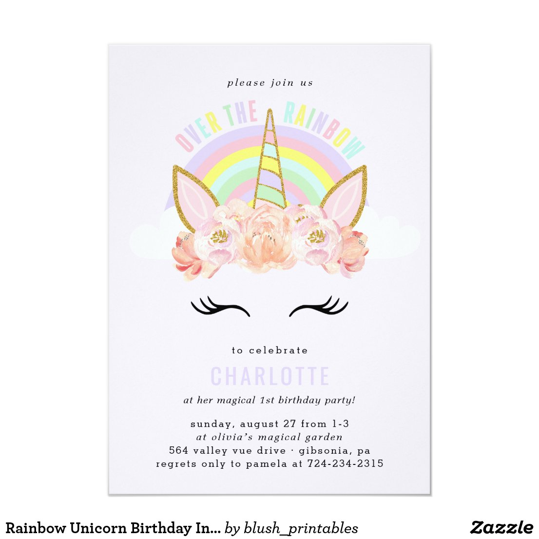 Unicorn Party Supplies | Personalised Birthday Party Idea