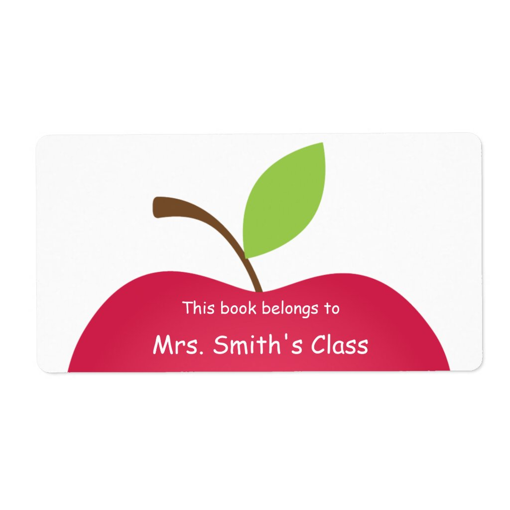 Red Apple Classroom Book Plate