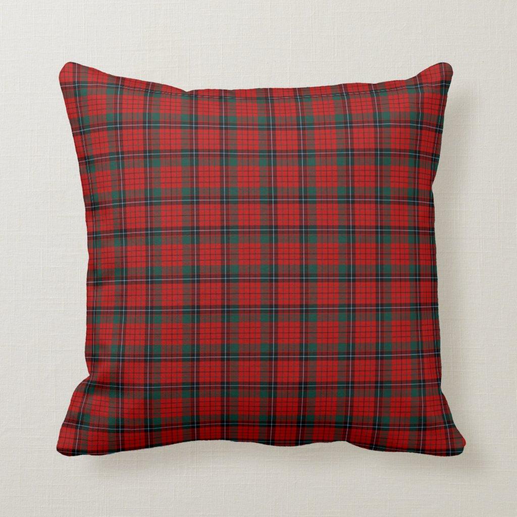 Red, Black and Green Nicolson Clan Scottish Plaid