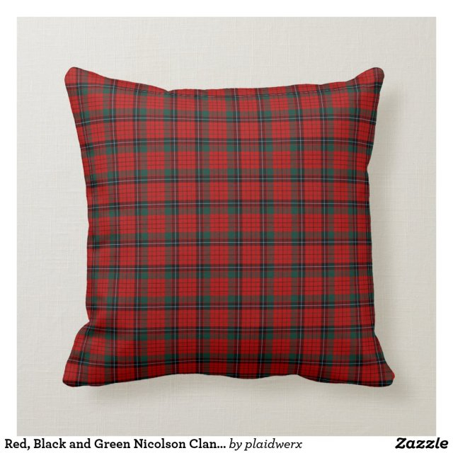 Red, Black and Green Nicolson Clan Scottish Plaid