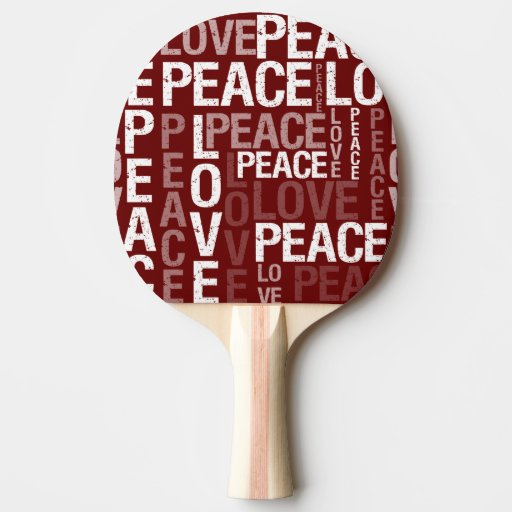 Red Love Peace Typography