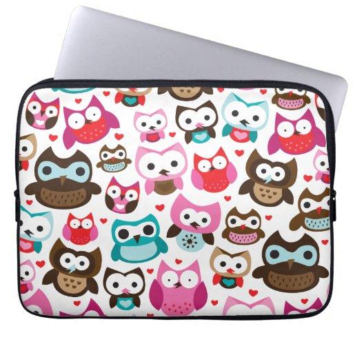 Owl pattern laptop sleeve