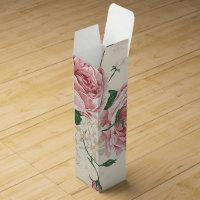Romantic Vintage Rose Flower Pattern Wine Box