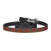 Royal Stewart Red, Blue, and Green Scottish Tartan Dog Lead
