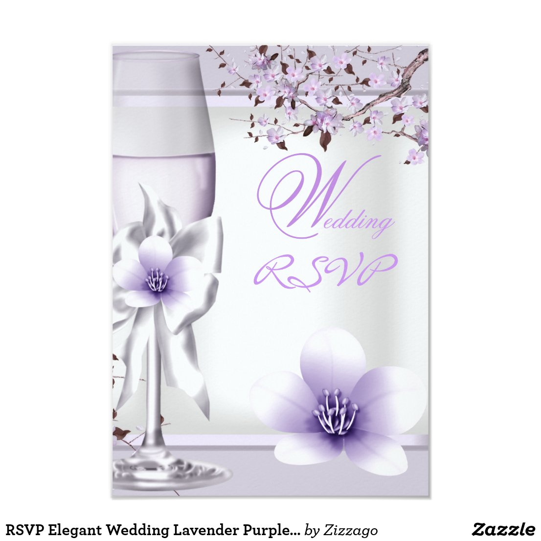 RSVP Elegant Wedding Lavender Purple Lilac 6