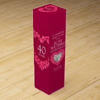 Ruby wedding anniversary wine box