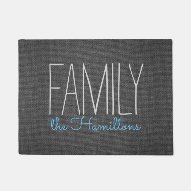 Family Monogram Door Mat