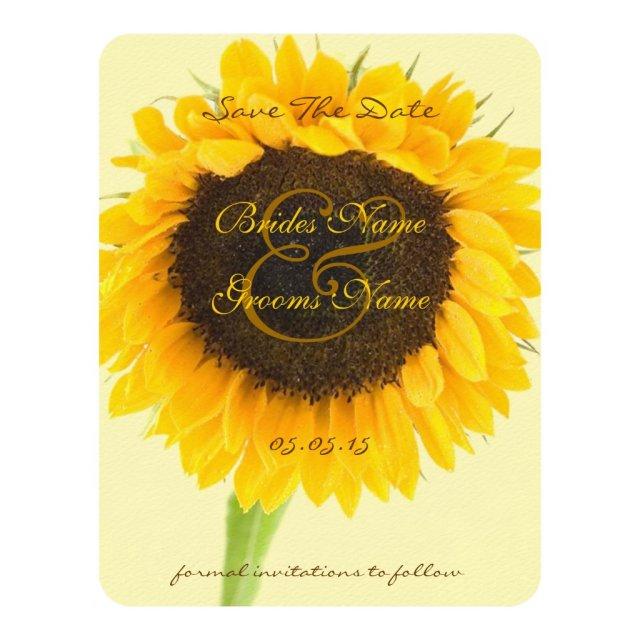 Rustic Romantic Sunflower Wedding Save the Date