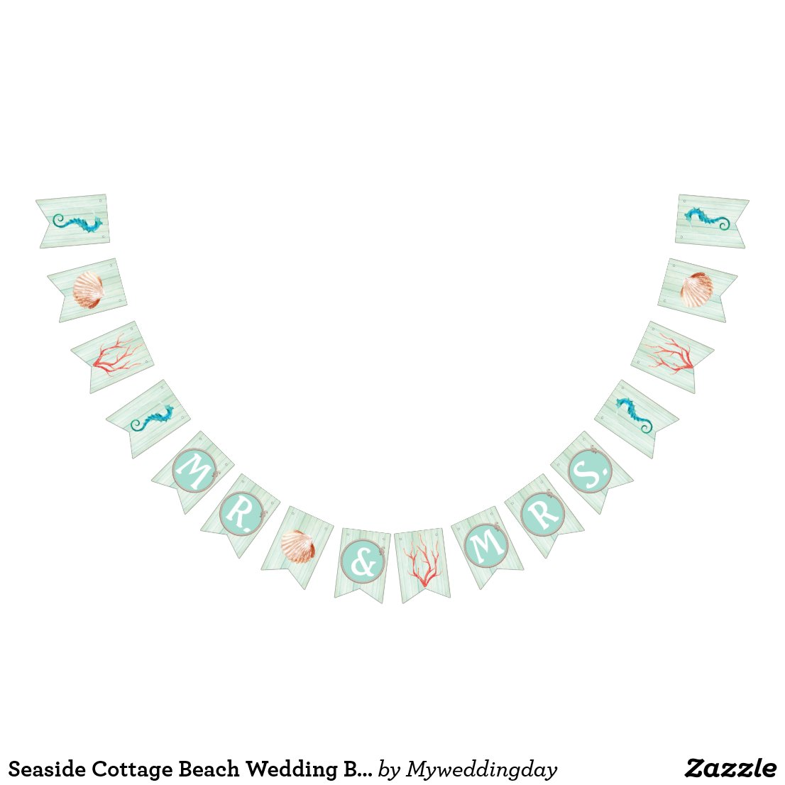 Seaside Cottage Beach Wedding Bunting