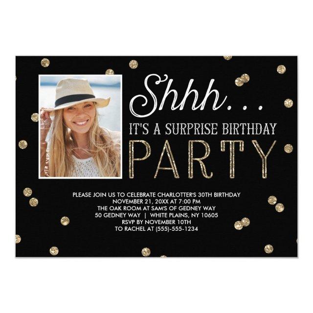 Surprise Party Photo Invitation