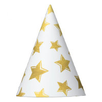 Shiny Gold Stars Party Hat