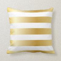 Metallic Gold Stripe Pillows