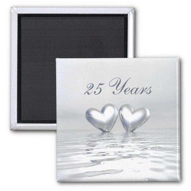 Silver Anniversary Hearts