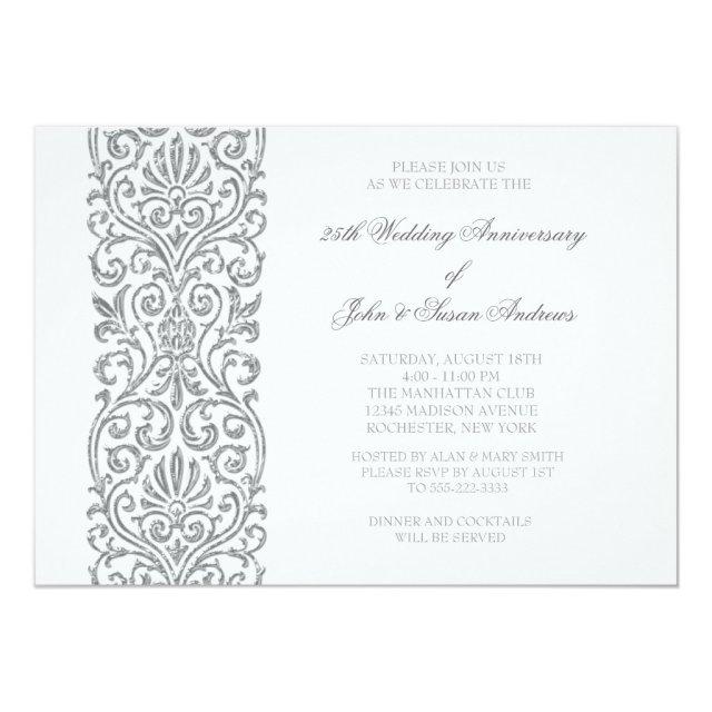 Silver Border 25th Wedding Anniversary Party
