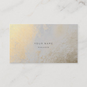 Silver Gold Metallic Abstract Appointment Card