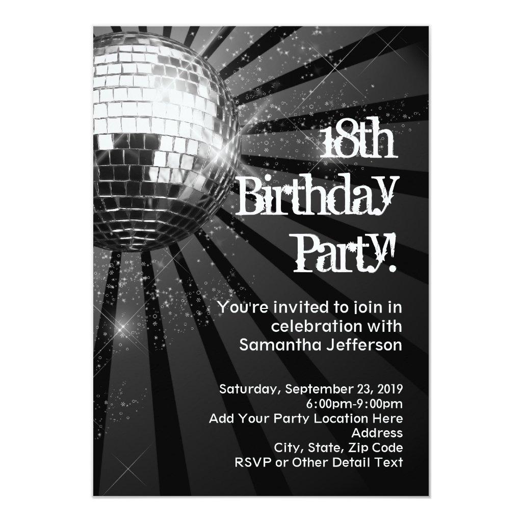 Silver Sparkle Disco Ball 18th Birthday Party