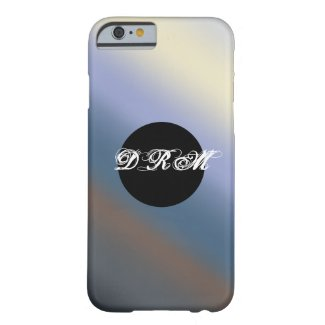 Silver/steal blue monogram phone case barely there iPhone 6 case