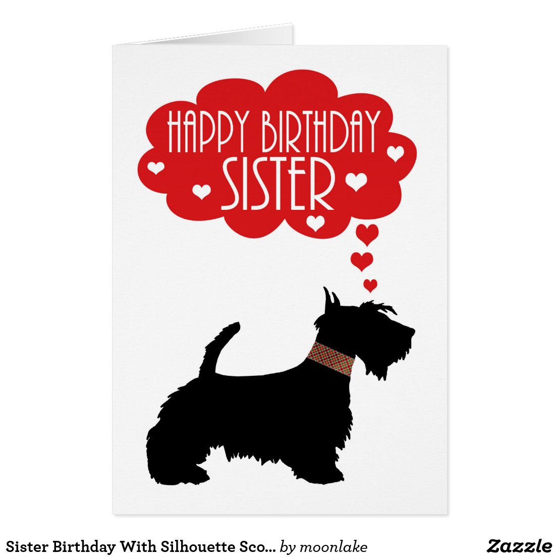 Sister Birthday With Silhouette Scottish Terrier