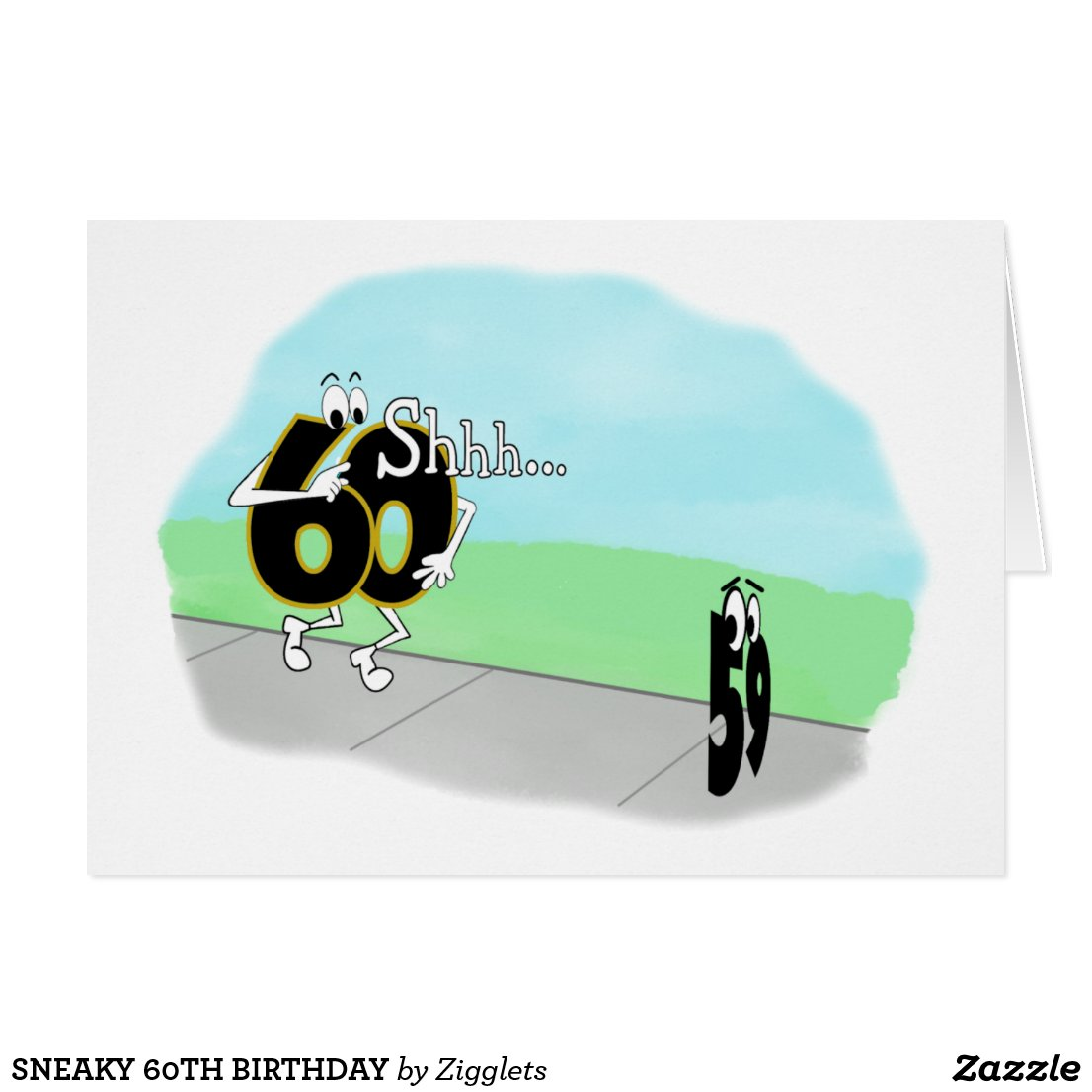 SNEAKY 60TH BIRTHDAY CARD
