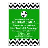 Soccer Birthday Party kids invitation