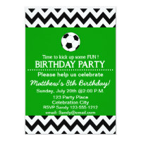 Soccer Birthday Party kids invitation