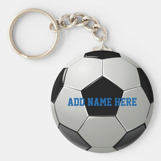 Soccer Football Name Customised Key Ring
