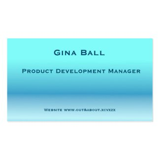 Soft blues and greens shading business cards