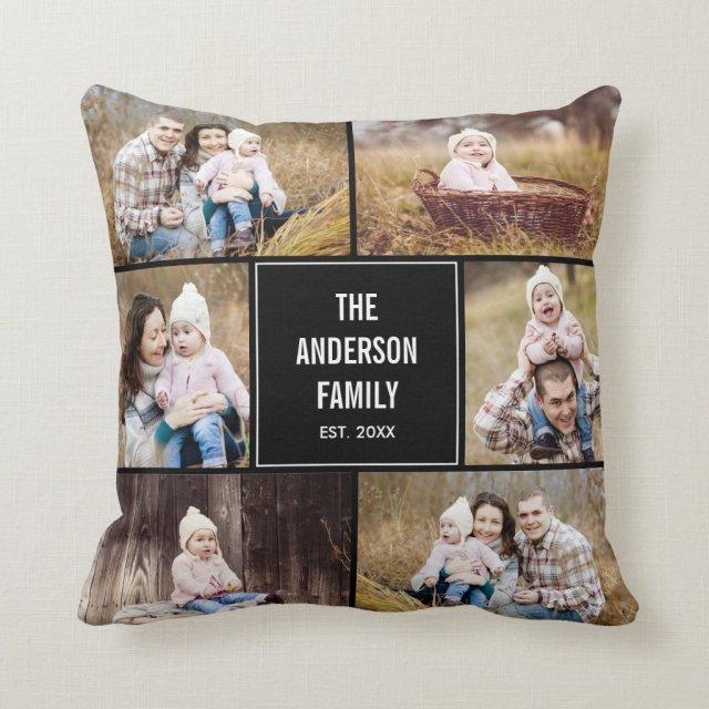 Photo Collage Custom Pillow