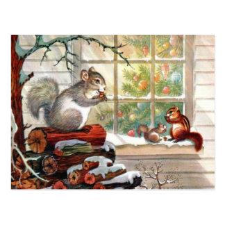 Christmas Squirrel Cards Amp Invitations
