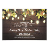 string of lights fall engagement party invitation
