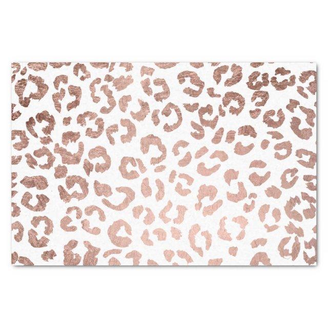 Stylish hand drawn rose gold leopard print tissue paper