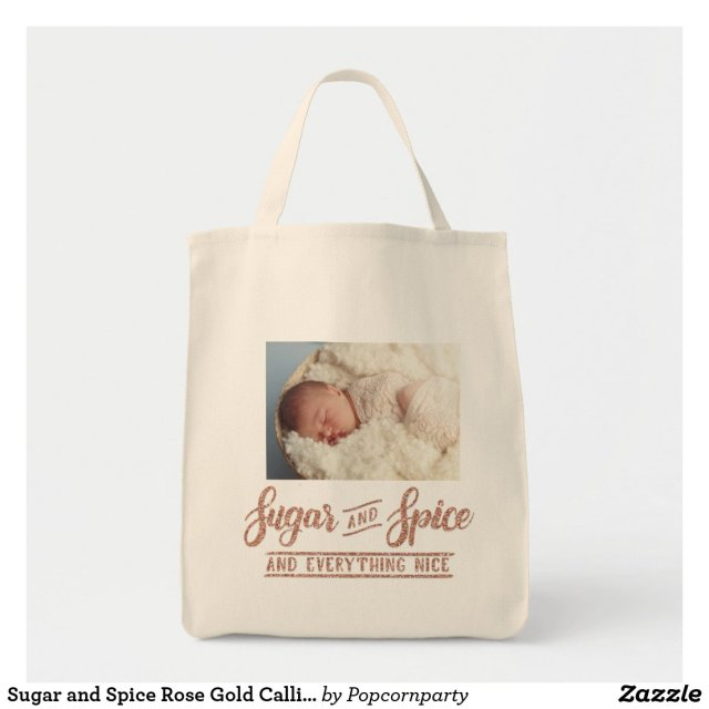 Sugar and Spice Rose Gold Tote Bag