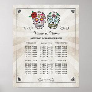 Sugar Skull Table Wedding Halloween Poster Seating