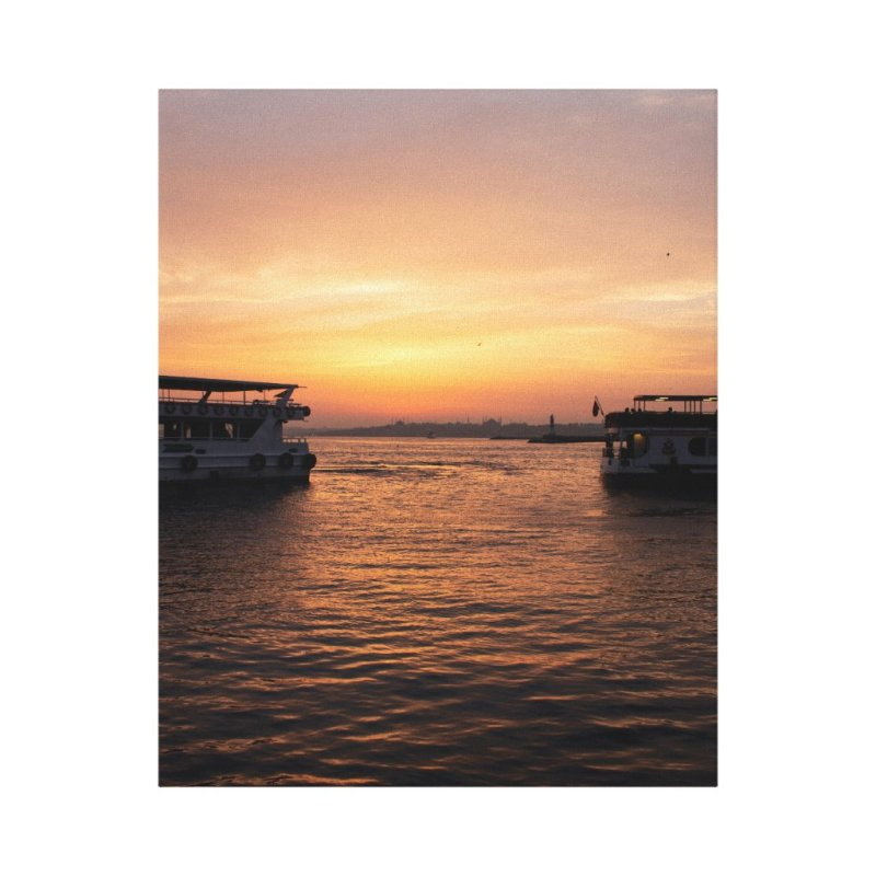 Sunset in Istanbul Canvas Print