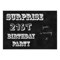 Surprise 21st Birthday Party Invitation