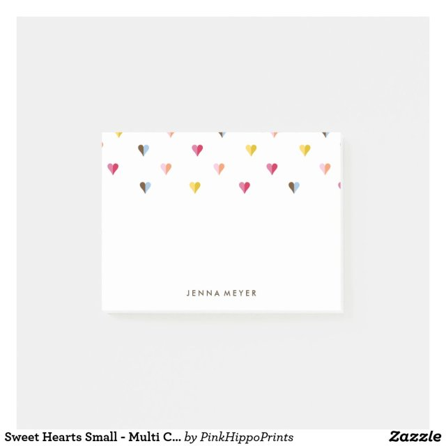 Sweet Hearts Small - Multi Coloured Post It Notes