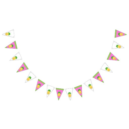 Sweet Pineapple Triangle Bunting Banner