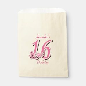 Sweet Sixteen Birthday | Pink Favour Bags