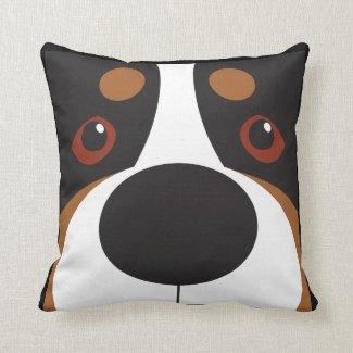 Swissy-Face Throw Pillow