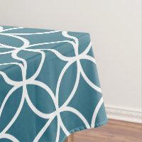 Teal Blue Geometric Pattern Tablecloths Tablecloth