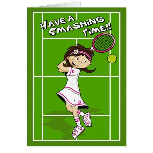 Tennis Girl Birthday Card Zazzle