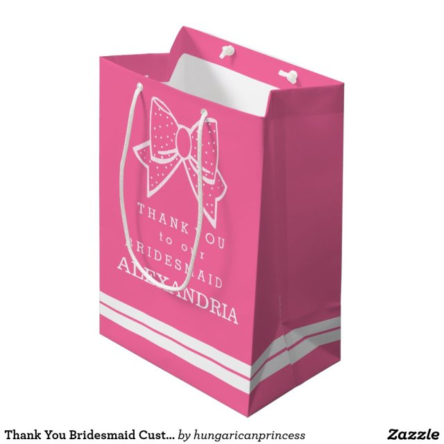 Thank You Bridesmaid Customise The Colour Gift Bag