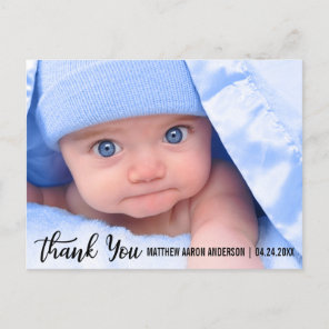 Thank You New Baby Modern Announcement Postcard
