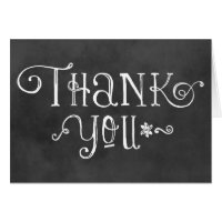 Thank You Note Cards   Black Chalkboard Charm