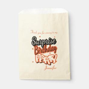 Thank You Surprise Birthday Party | Orange Favour Bags