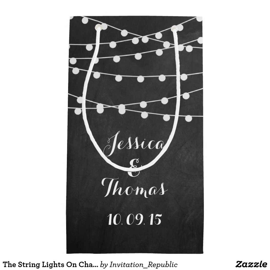 The String Lights On Chalkboard Wedding Collection Gift Bag