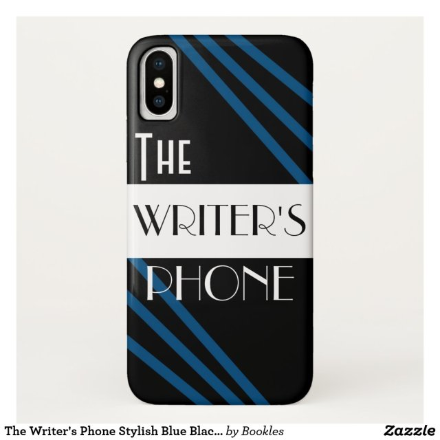 The Writer's Phone Stylish Blue Black White Case-Mate iPhone Case