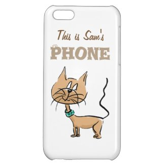 This is (name) customize phone case cartoon cat case for iPhone 5C