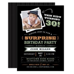 This Kid's Turning Old! Surprise Birthday Photo Invitation